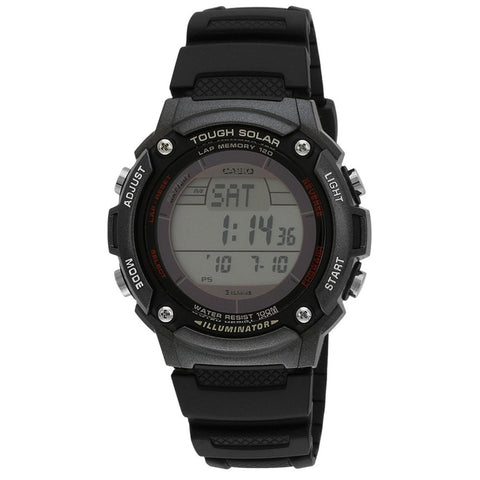 Casio WS200H-1BV Men's Digital Display Quartz Watch, Black Resin Band, Round 43mm Case