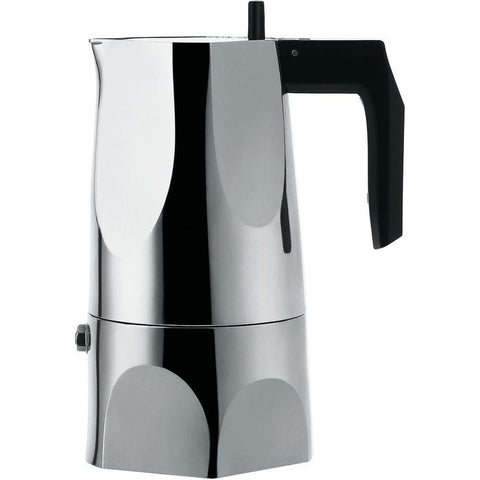 Alessi MT18/3 Mario Trimarchi Ossidiana Espresso Coffee Maker, 5 1/4oz