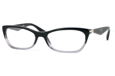 Prada PR15PV ZYY/1O1 Eyeglasses, Black Gradient Transparent Frame, Clear 55mm Lenses