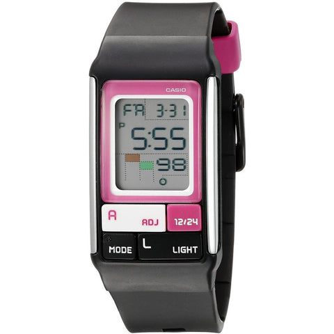 Casio LDF-52-1ADR Poptone Digital Display Quartz Watch, Black Resin Band, Rectangle 23.6mm Case