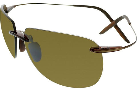 Maui Jim H527-26 Nakalele Sungalsses, Rootbeer/Copper Frame, HCL Bronze Polarized 64mm Lenses