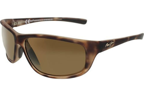 Maui Jim H278-10MR Spartan Reef Sunglasses, Matte Tortoise Rubber Frame, HCL Bronze Polarized 63.5mm Lenses