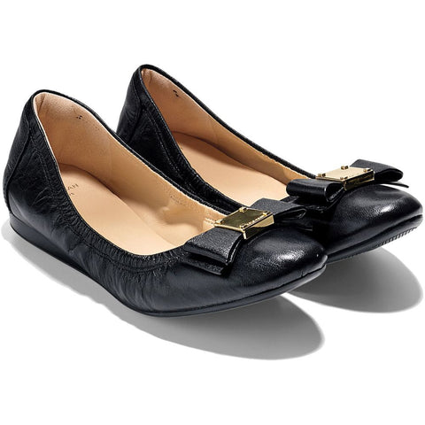 Cole Haan Tali Bow Ballet Flats Women's Leather Shoes