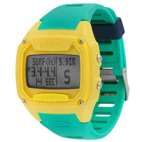 Freestyle Men's 10025778 Shark Tooth Digital Watch, Green Silicone Band, Tonneau 48mm Case