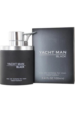 Yacht Man Black 3.4 Edt Sp For Men