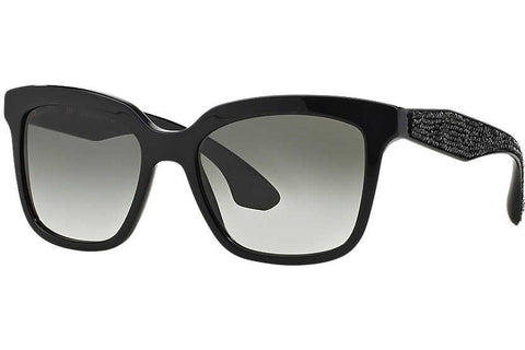 Miu Miu MU 09PS 1AB0A7 Sunglasses, Black Frame, Gray Gradient 54mm Lenses