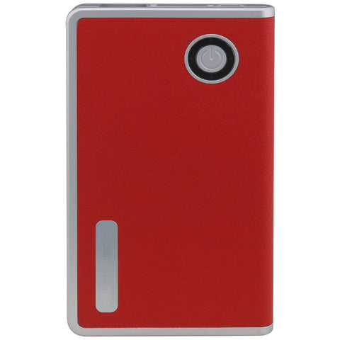 SoundLogic XT 2600 mAh Executive Leatherette Back Battery Charger Power Bank - Red