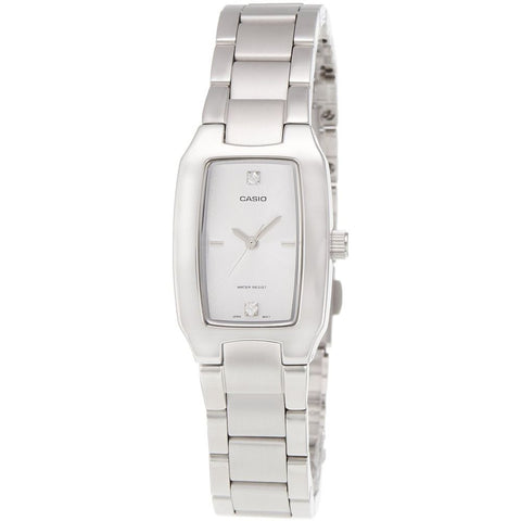 Casio LTP-1165A-7C2DF Enticer Analog Display Quartz Watch, Silver Stainless Steel Band, Rectangle 21mm Case