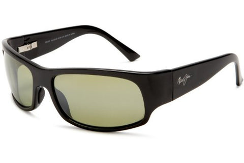 Maui Jim HT222-02 Longboard Sunglasses, Gloss Black Frame, Maui HT Polarized 61mm Lenses