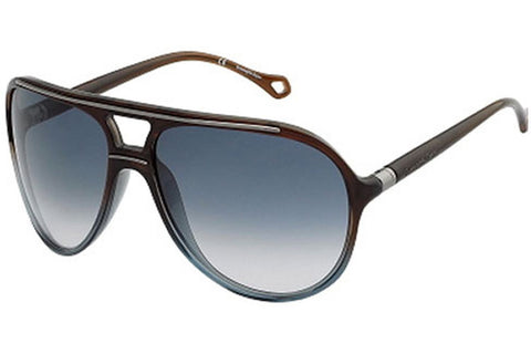 Ermenegildo Zegna SZ3576 0W67 Sunglasses, Brown Frame, Blue 95mm Lenses