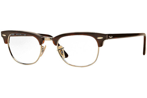 Ray-Ban RX5154 2372 Clubmaster Optics Eyeglasses, Tortoise Frame, Clear 49mm Lenses