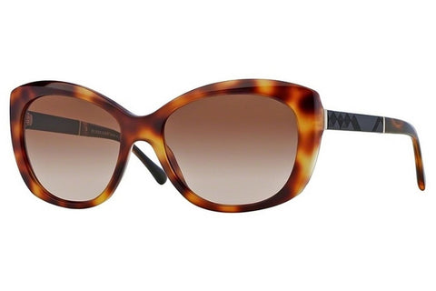 Burberry BE4164 331613 Butterfly Women's Sunglasses, Light Havana Frame, Brown Gradient 55mm Lens