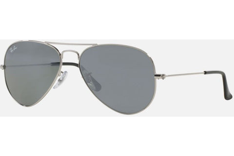 Ray-Ban RB3025 W3275 Aviator Classic Sunglasses, Silver Frame, Crystal Gray Mirror 55mm Lenses