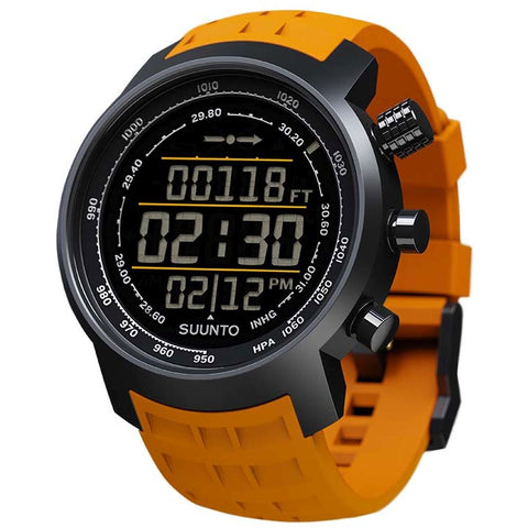 Suunto SS019172000 Elementum Terra Amber Rubber Digital Display Quartz Watch, Amber Silicone Band, Round 51.5mm Case
