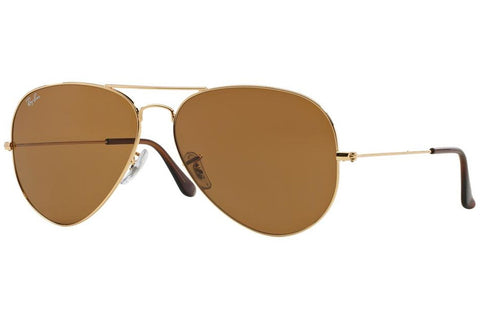 Ray-Ban RB3025-001/33-55 Aviator Classic Sunglasses, Gold Frame, Brown Non-Polarized 55mm Lenses