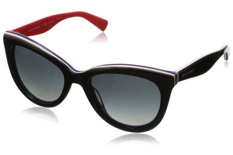 Dolce & Gabbana DG4207-2764-T3 Women's Sunglasses, Black/Red Frame, Gray Polarize 55mm Lenses