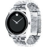 Movado 0606504 Museum Classic Analog Display Quartz Watch, Silver Stainless Steel Band, Round 40mm Case