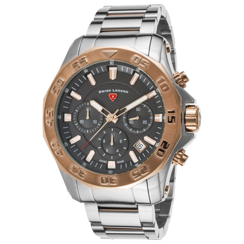 Swiss Legend SL-16199SM-SR-104-RB Islander Men's Analog Display Quartz Watch, Two-Toned Stainless Steel Band, Round 48mm Case