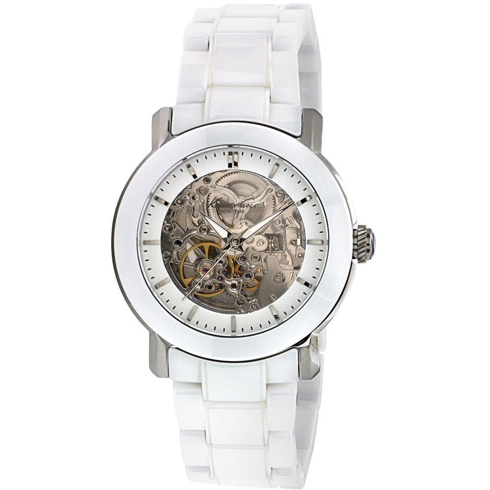 Kenneth Cole KC4726 Automatic Women's Analog Watch, White Ceramic Band, Round 38mm Case