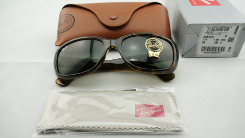 Ray-Ban RB4101 710 Jackie Ohh Sunglasses, Tortoise Frame, Green Classic 58mm Lenses
