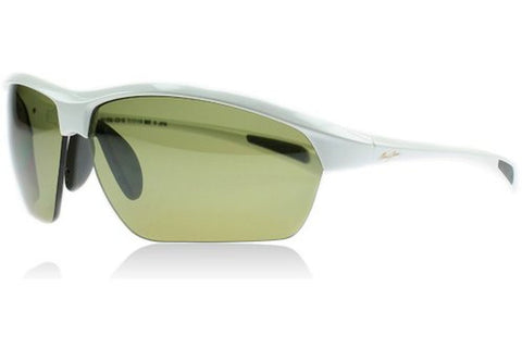 Maui Jim HT429-05 Stone Crushers Sunglasses, White Pearl Frame, Maui HT Light Green 71mm Lenses
