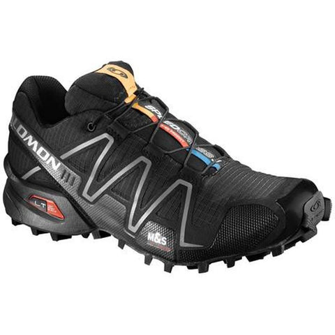 Salomon L32784500-095 Women's Speedcross 3 Trail Running Shoe, Black/Black/Silver Mettalic X, 9.5  US