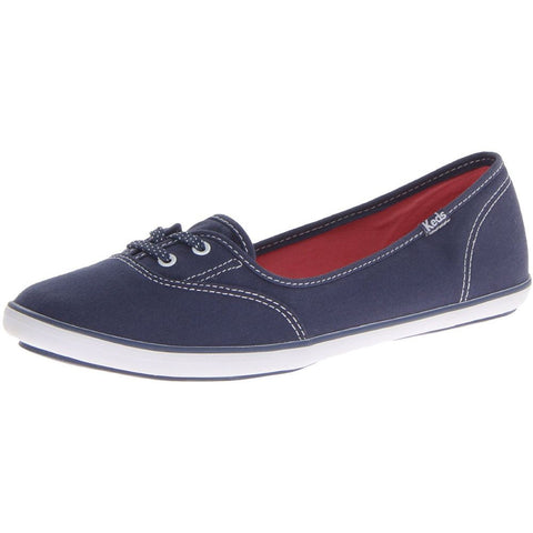 Keds WF49962 Women's Teacup Fashion Flat Shoes, Navy, 9 M US