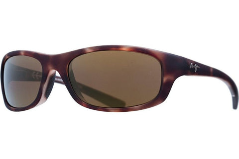 Maui Jim H279-10MR Kipahulu Sunglasses, Matte Tortoise Rubber Frame, HCL Bronze Polarized 59mm Lenses