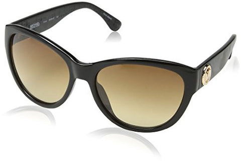 Michael Kors M2892S-001 Vivian Sunglasses, Black Frame, Brown Gradient 57mm Lenses