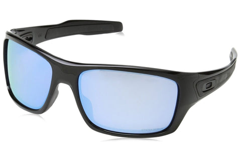 Oakley OO9263-14 Turbine Prizm Deep H2O Sunglasses, Polished Black Frame, Polarized Blue 65mm Lenses