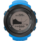 Suunto SS021969000 Ambit3 Vertical Blue Digital Display Quartz Watch, Blue Silicone Band, Round 50mm Case