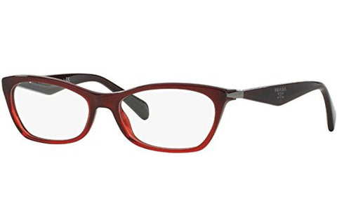 Prada PR15PV MAX1O1 Eyeglasses, Bordeaux Gradient Red Frame, Clear 55mm Lenses
