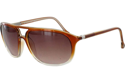 Ermenegildo Zegna SZ3511E 08YK Sunglasses, Brown Frame, Brown 59mm Lenses