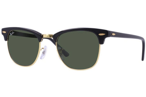 Ray-Ban RB3016 W0365 Clubmaster Classic Sunglasses, Black Frame, Green Classic 51mm Lenses