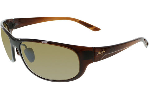 Maui Jim H417-26B Twin Falls Sunglasses, Rootbeer and Copper Frame, Polarized HCL Bronze 63mm Lenses