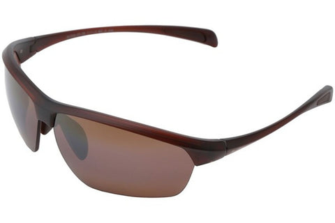 Maui Jim H429-26M Stone Crushers Sunglasses, Matte Rootbeer Frame, HCL Bronze Polarized 71mm Lenses