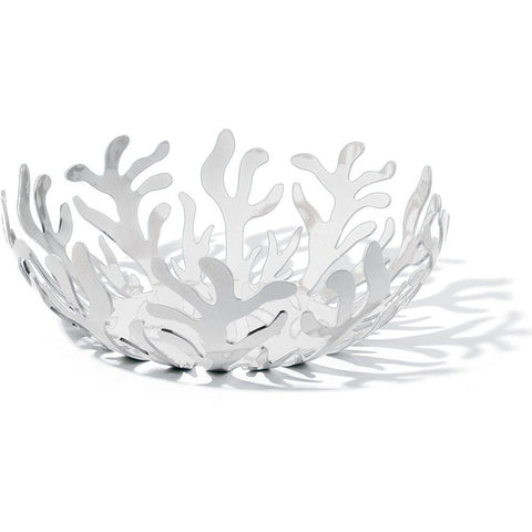 Alessi ESI02/25 W LPWK-Emma Silvestris Mediterraneo Fruit Holder, White, 3in H x 9in Diameter