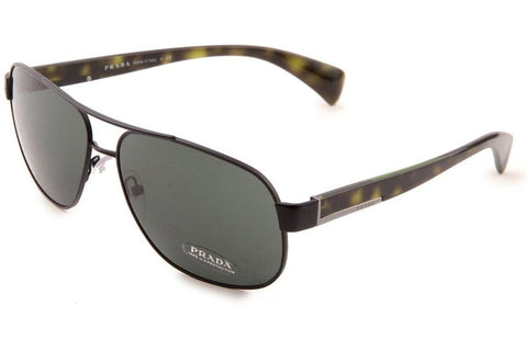 Prada PR 52PS 1BO3O1 Sunglasses, Matte Black Frame, Gray Green 61mm Lenses