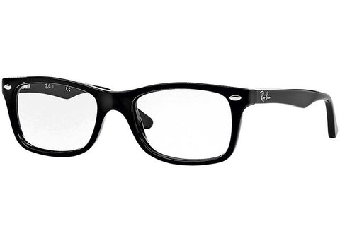 Ray-Ban RB5228 2000 Acetate Eyeglasses, Black Frame, Clear 50mm Lenses