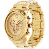 Movado 3600278 Bold Analog Display Chronograph Quartz Watch, Yellow Gold Ion-Plated Stainless Steel Band, Round 44mm Case