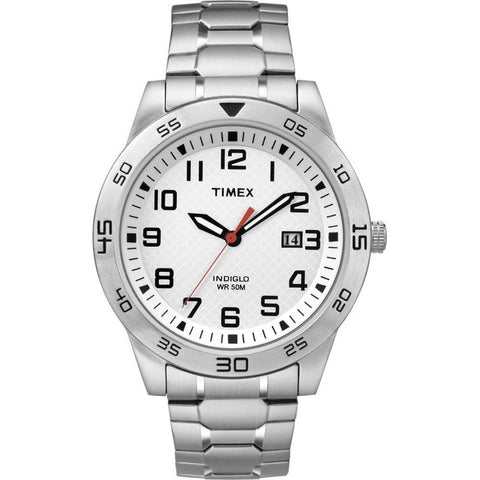 Timex TW2P61400 Collection Sport Men's Analog Display Quartz Watch, Silver Stainless Steel, Round 42mm Case