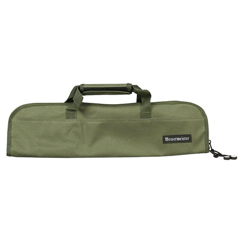 Messermeister 2066-5OL 5-Pocket Padded Knife Bag, Olive