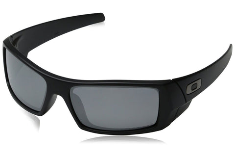 Oakley 03-473 Men's Gascan Sunglasses, Matte Black Frame, Grey 60mm Lenses