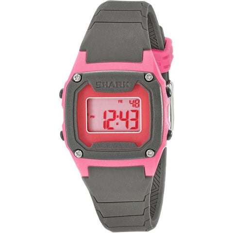 Freestyle Women's 10017011 Shark Classic Mini Pink/Grey Digital Watch, Grey Silicone Band, Tonneau 30mm Case