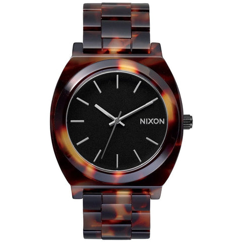 Nixon A327646 Women's Time Teller Acetate Tortoise Analog Display Quartz Watch, Tortoise Acetate Band, Round 40mm Case