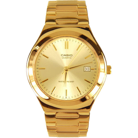 Casio MTP-1170N-9A Analog Display Quartz Watch, Gold Stainless Steel Band, Round 36mm Case