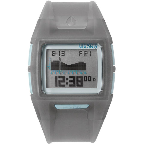 Nixon A2891783 Men's Lodown II Translucent Charcoal Digital Watch, Grey Polyurethane Band, Square 43mm Case