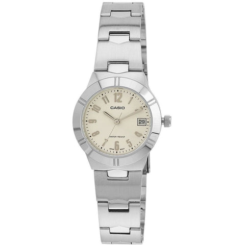 Casio LTP-1241D-7A2DF Analog Display Quartz Watch, Silver Stainless Steel Band, Round 25mm Case