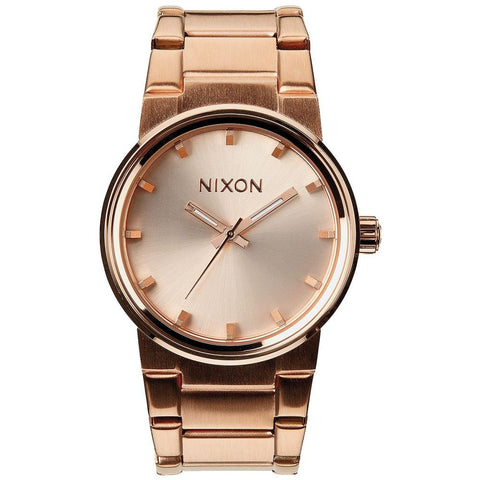 Nixon A1601897 Women's Cannon All Rose Gold Analog Watch, Rose Gold Stainless Steel Band, Round 40mm Case
