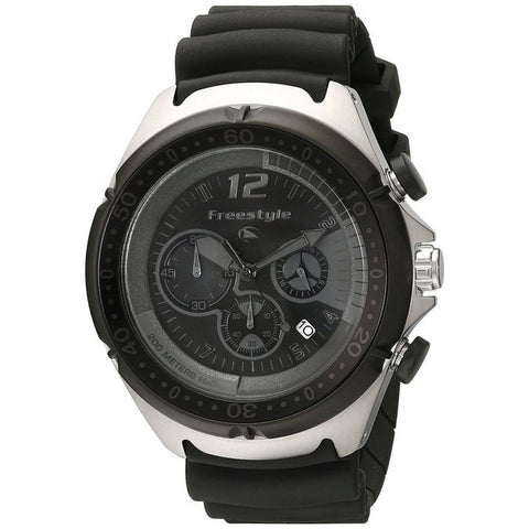Freestyle Men's FS84939 Hammerhead XL Chrono Analog Diver Watch, Black Polyurethane Band, Round 47mm Case